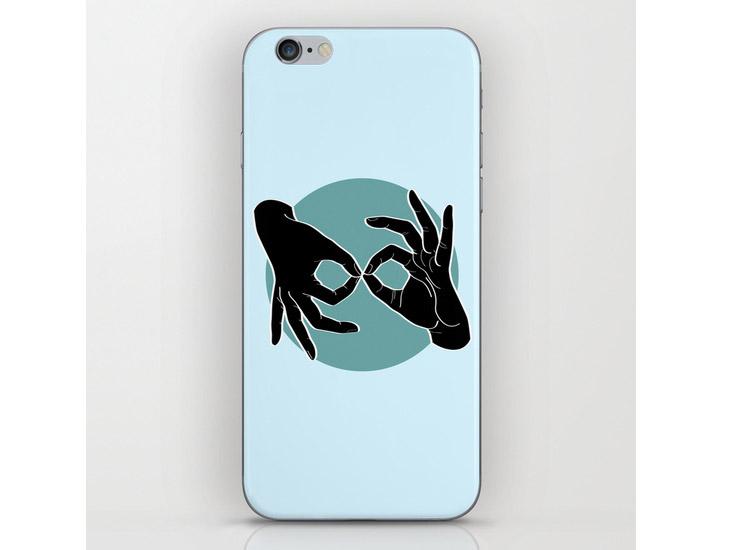 Society6 – Phone Skins – Black on Turquoise 00
