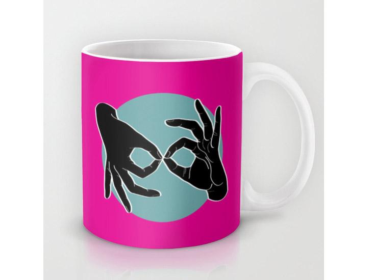 Society6 – Mug – Black on Turquoise 05