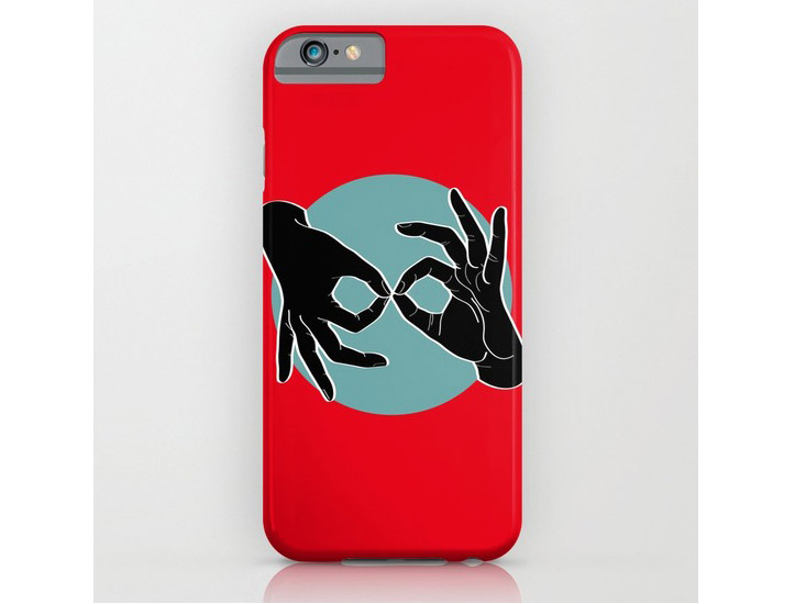 Society6 – Phone Cases – Black on Turquoise 01