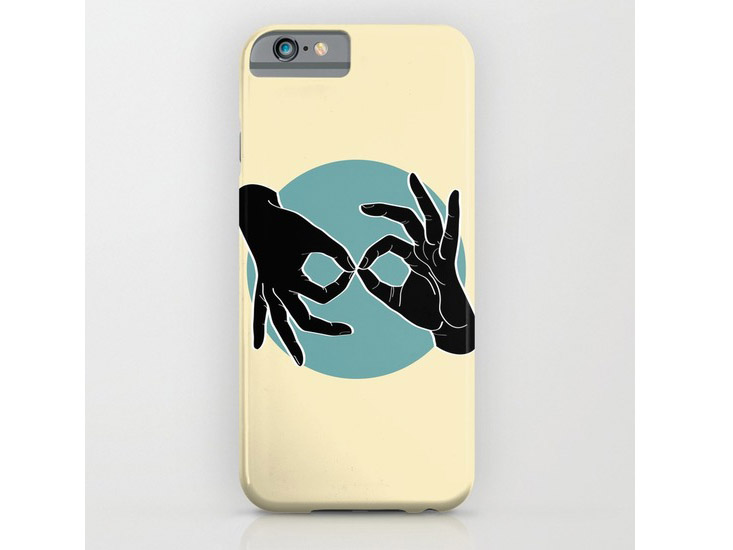 Society6 – Phone Cases – Black on Turquoise 04