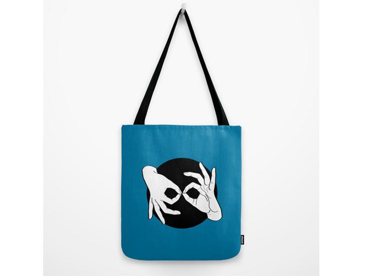 Society6 – Tote Bag – White on Black 10