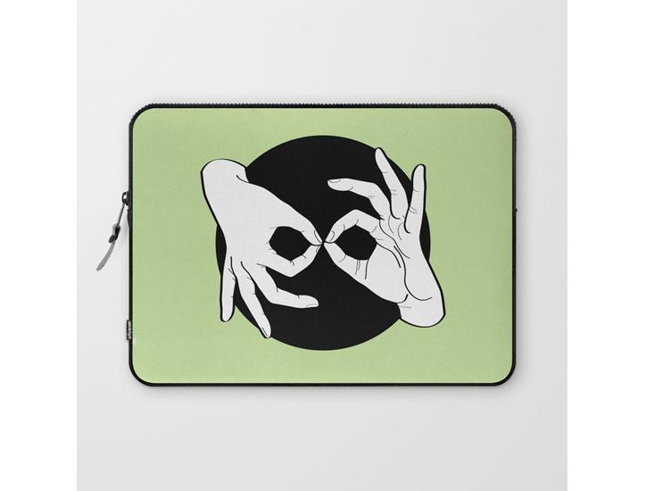 Society6 – Laptop Sleeves – White on Black 15