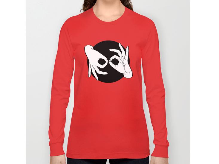 Society6 – Long Sleeve T-shirt – White on Black 15