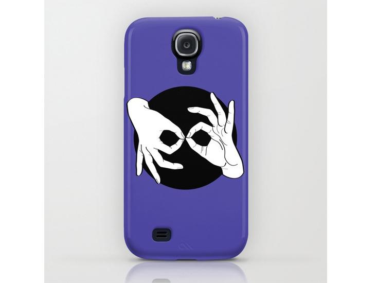 Society6 – Phone Cases / Galaxy – White on Black 02