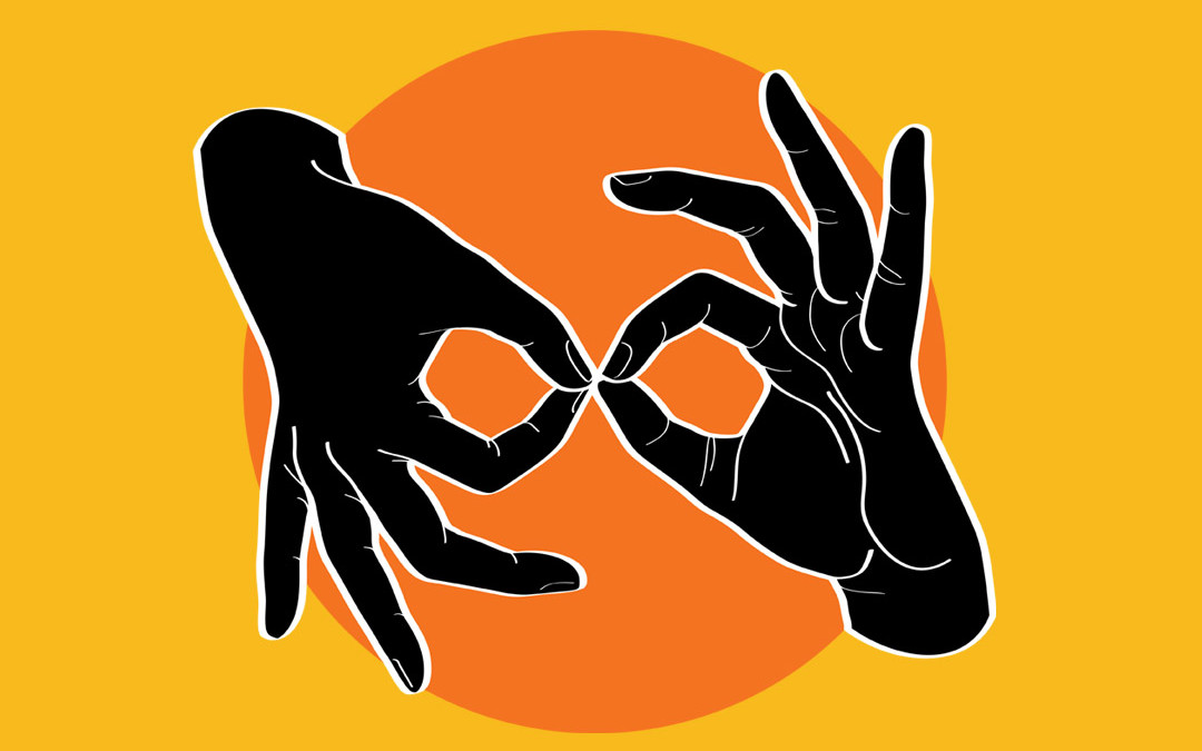 ASL Interpreter – Black on Orange