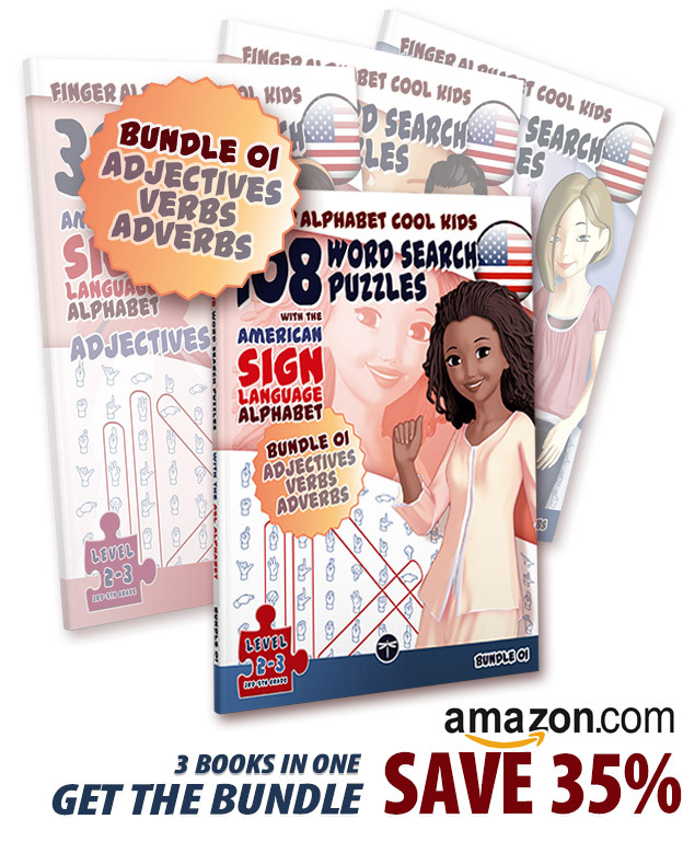 ASL Word Search Puzzle Book Bundle Offer