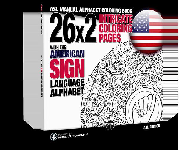 ASL Alphabet Coloring Book