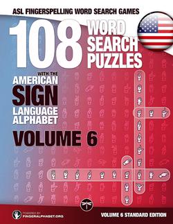 ASL Word Search Books Volume 6