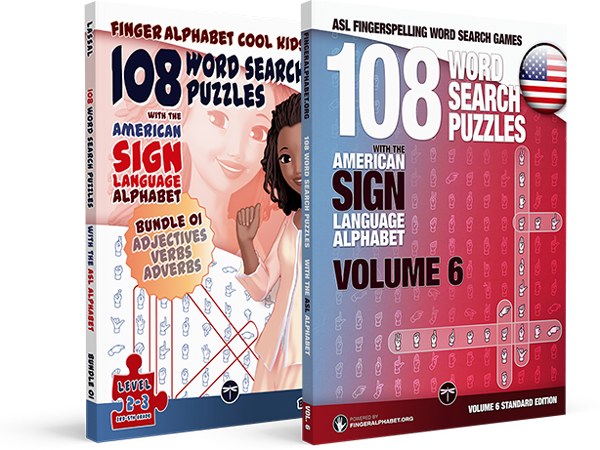 ASL Word Search Books for Kids and Adults by Project Fingeralphabet