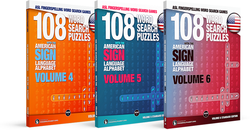 project fingeralphabet ASL word search books