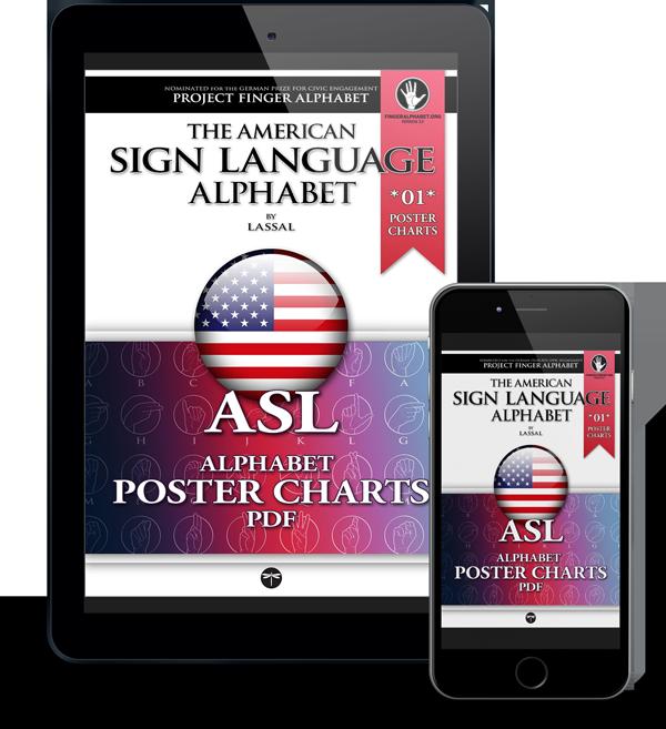 Project FingerAlphabet ASL Alphabet Poster Charts 2